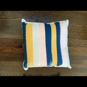 Pillow (Navy, yellow, pink and white)